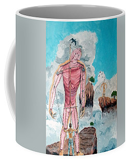 Fragiles Colossus Coffee Mug by Lazaro Hurtado
