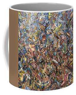 Coffee Mug featuring the painting Fragmented Fall - Square by James W Johnson