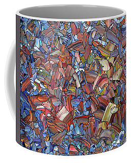 Coffee Mug featuring the painting Fragmented Rose by James W Johnson