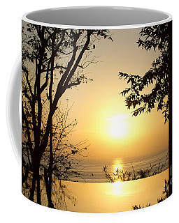 Framed Golden Sunset Coffee Mug