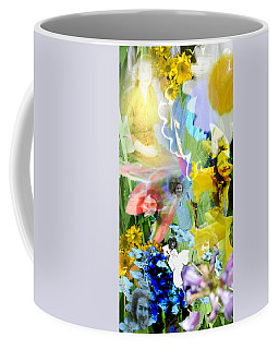Coffee Mug featuring the digital art Framed In Flowers by Cathy Anderson