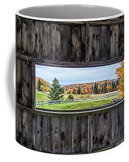 Framed-autumn In Vermont Coffee Mug by John Vose
