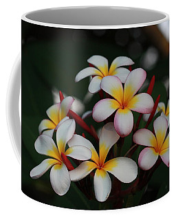 Coffee Mug featuring the photograph Frangipani Bouquet by Keith Hawley