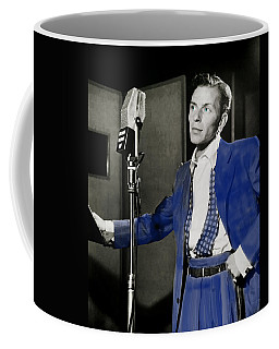 Coffee Mug featuring the photograph Frank Sinatra - Old Blue Eyes by Ericamaxine Price