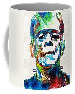 Frankenstein Art - Colorful Monster - By Sharon Cummings Coffee Mug