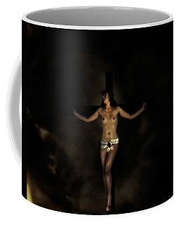 Frau Am Kreuz Coffee Mug