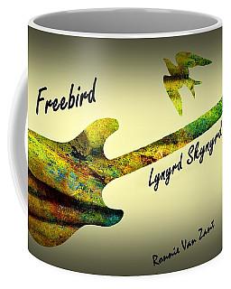 Freebird Lynyrd Skynyrd Ronnie Van Zant Coffee Mug by David Dehner