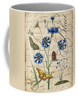 French Botanical-bluet Coffee Mug