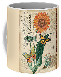 French Botanical-souci Coffee Mug