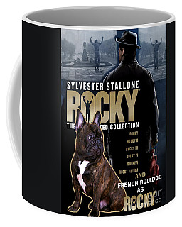 French Bulldog Art - Rocky Movie Poster Coffee Mug