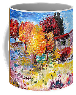 French Farm With Green Shutters Coffee Mug