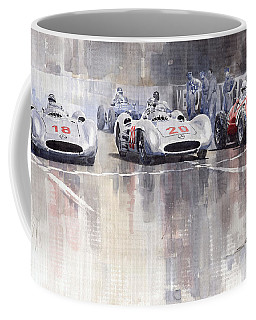 French Gp 1954 Mb W 196 Meserati 250 F Coffee Mug
