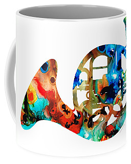 French Horn - Colorful Music By Sharon Cummings Coffee Mug