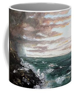 Coffee Mug featuring the painting Frenchman's Bay by Lee Piper