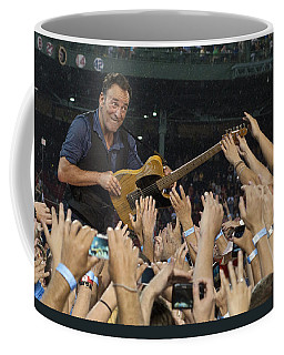 Coffee Mug featuring the photograph Frenzy At Fenway by Jeff Ross