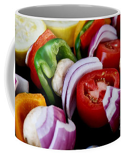 Fresh Veggie Kabobs On The Grill Coffee Mug by Peggy Hughes