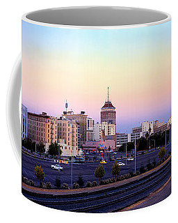Fresno Skyline Into The Evening Coffee Mug