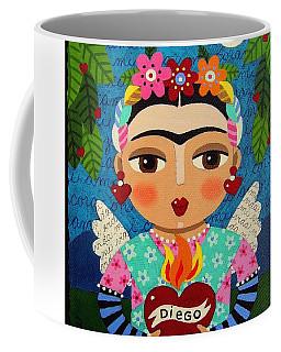 Frida Kahlo Angel And Flaming Heart Coffee Mug