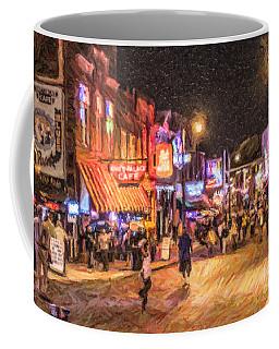 Friday Night On Beale Coffee Mug