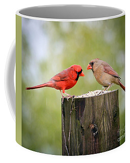Friends In The Rain  Coffee Mug by Kerri Farley