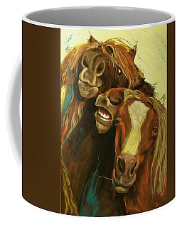 Coffee Mug featuring the mixed media Friends by Peter Suhocke
