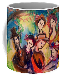 Friendship And The Blossoming Coffee Mug by Judith Desrosiers