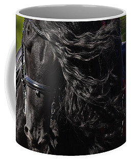 Coffee Mug featuring the photograph Friesian Beauty D8197 by Wes and Dotty Weber