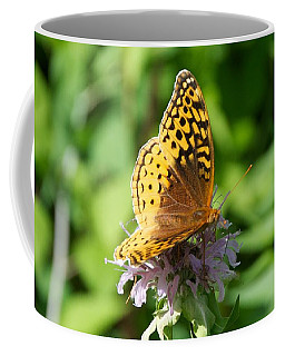 Frittillary And Pink Bee Balm Coffee Mug