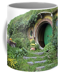 Frodo Baggins Lives Here Coffee Mug by Venetia Featherstone-Witty