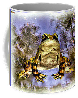 Coffee Mug featuring the digital art Frog by Daniel Janda