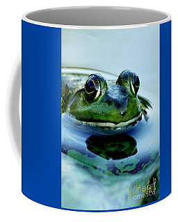 Green Frog I Only Have Eyes For You Coffee Mug by Carol F Austin