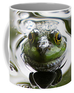 Coffee Mug featuring the photograph Frog Kiss by Dianne Cowen