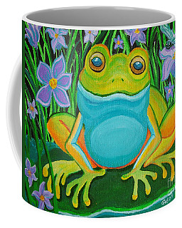 Frog On A Lily Pad Coffee Mug by Nick Gustafson