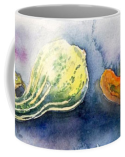 Froggy And Gourds Coffee Mug by Yoshiko Mishina