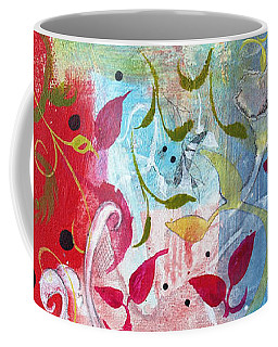 Coffee Mug featuring the painting Frolic by Robin Maria Pedrero