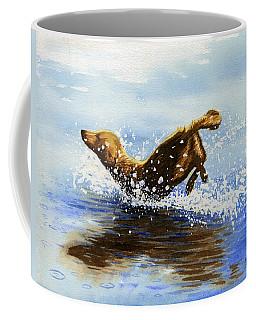 Frolicking Dog Coffee Mug
