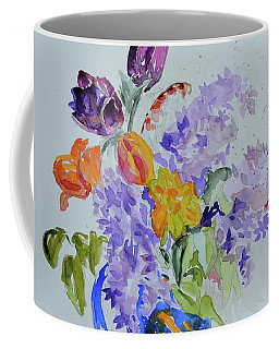 Coffee Mug featuring the painting From Grammy's Garden by Beverley Harper Tinsley