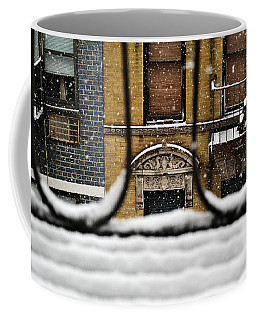 From My Fire Escape - Arches In The Snow Coffee Mug