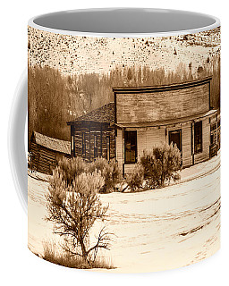 From Saloon To Store Front And Home In Sepia Coffee Mug