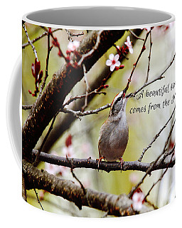 Coffee Mug featuring the photograph From The Heart by Trina  Ansel