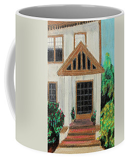 Coffee Mug featuring the painting Front Door 1 by Jeanne Fischer