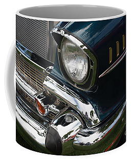Coffee Mug featuring the photograph Front Side Of A Classic Car by Gunter Nezhoda
