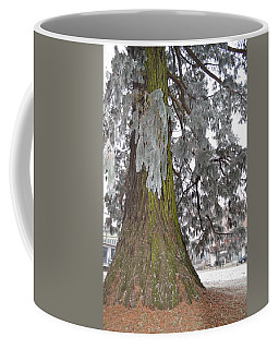 Coffee Mug featuring the photograph Frost On The Leaves by Felicia Tica