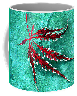 Coffee Mug featuring the photograph Frosted Japanese Maple by Nina Silver