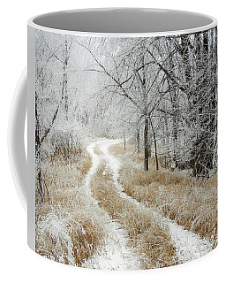 Coffee Mug featuring the photograph Frosty Trail 2 by Penny Meyers