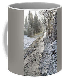 Coffee Mug featuring the painting Frozen Air by Felicia Tica