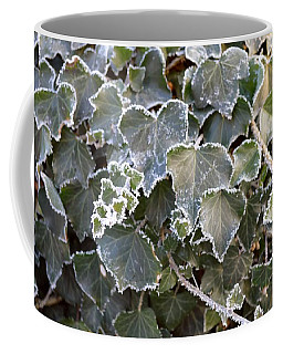 Coffee Mug featuring the painting Frozen Hedera Helix 2 by Felicia Tica