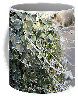 Coffee Mug featuring the painting Frozen Hedera Helix by Felicia Tica