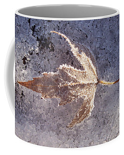 Coffee Mug featuring the photograph Frozen Leaf by Richard Bryce and Family