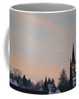 Coffee Mug featuring the photograph Frozen Sky 2 by Felicia Tica